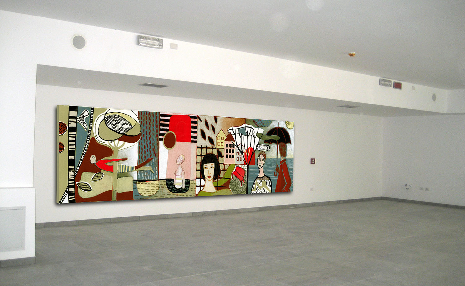 Solstizio Public art competition (2nd prize), 2014 Acrylic on canvas Retirement Home Giovanelli, Tesero, Italy