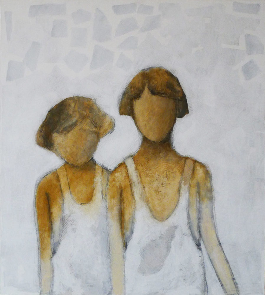 The step sister • Mixed media on canvas • 70x80 cm